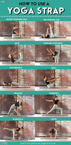Here are 18 different ways a beginner practicing yoga can use a strap in their practice. It