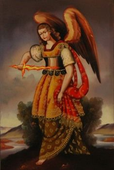 10 Fascinating Angels and Demons  by Jamie Frater  listverse.com    Uriel Sword Of Fire Thumbnail.Jpg