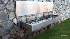 barbacoas a gas de acero inoxidable empotrable para terraza - Buscar con Google