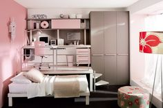 Great use of space for teen girls room
