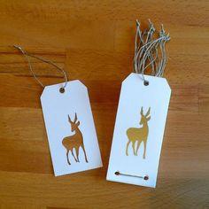 Carnet de 10 étiquettes cadeaux décorées de BICHES : Emballages cadeaux par made-at-les-volets-verts