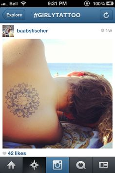 Or a mandala tattoo with a peace sign in its pretty rad too....