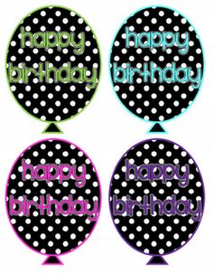 """Birthday Balloon Template """"Free"""" For the top of my pixie stix! :)"""