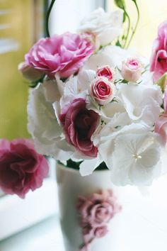 Flowers pink&white by Pixelglow Images on Creative Market