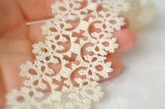 Pulsera cordón nupcial ropas de Marfil joyería de por Ilfilochiaro