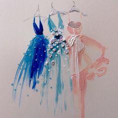 Image de dress, art, and drawing
