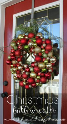Christmas Bulb Wreath - Wait Til Your Father Gets Home