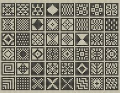 Ravelry: sanquhar-ish squares chart pattern by fiona bearclaw, knitted patchwork Fair Isle Knitting Patterns, Knitting Charts, Weaving Patterns, Knitting Stitches, Knitting Designs, Motif Fair Isle, Pixel Pattern, Free Pattern, Tapestry Crochet