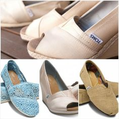 TOMS wedding shoe ideas.