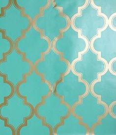 REVEL: Turquoise + Gold Wallpaper