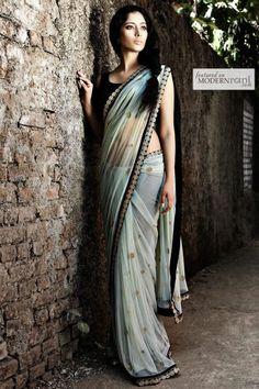 Bridal Indian Reception Saree - more inspiration @ http://www.ModernRani.com