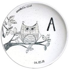 Personalized Monogram New Baby Owl ~ Coupe