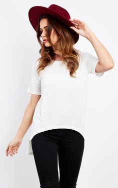 High Low T In White - SilkFred