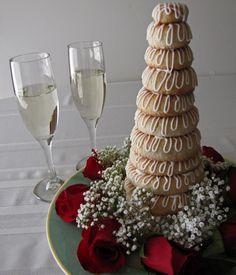 Kransekage - Danish wedding cake!