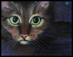 Cat, pastel painting by Heidi • https://www.pinterest.com/pin/436286282627532947/