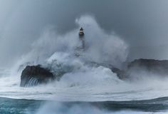 Mouro Island Lighthouse, Spain Built In 1860