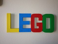 lego bedrooms for kids | Living My Charmed Life: Kids Room Letters-Lego Theme-Cheap and Easy!