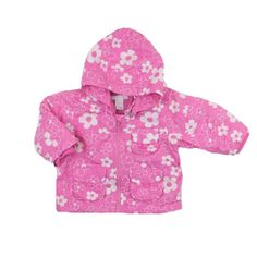 H&M Girls Lined Jacket in Pink and White Floral Pattern, Size 6-12 Months, $6