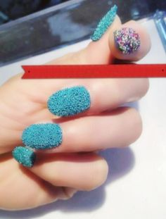 Caviar nail art 2012. I'm in love.  But here's a tip, they have bottles of caviar beads at the dollar tree. 8 colors in a pack!