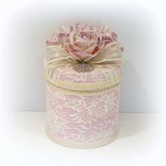 Shabby Chic Box Lavender Box Lace Covered Box by uniqueboxboutique, $39.00