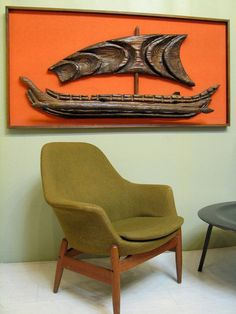 Witco Wooden Outrigger Wall Art    Maybe I need to find a space for my gramma's giant orange viking ship wall hanging after all.   It does look cool with the right furniture.