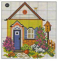 ru / Photo # 45 - Home cottages - irisha-ira Cross Stitch House, Cross Stitch Pillow, Cross Stitch Kits, Cross Stitch Charts, Cross Stitch Designs, Cross Stitch Patterns, Cross Stitching, Cross Stitch Embroidery, Hand Embroidery