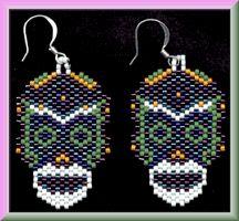 La Calaca Mexican Sugar Skull Earrings