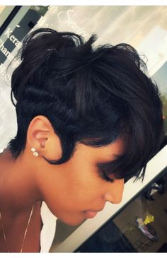 """Acquire excellent ideas on """"black hairstyles men"""". They are readily available fo… - All For Hairstyles Short Relaxed Hairstyles, Dope Hairstyles, Black Hairstyles, Sweet Hairstyles, Latest Hairstyles, Wedding Hairstyles, Short Sassy Hair, Short Hair Cuts, Pixie Cuts"""