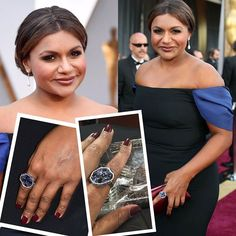 Mindly Kaling with Effy jewelry. Drop earrings with white diamonds pavé and ring with blue sapphires black diamonds and white gold. Styled by Cristina Ehrlich. __________  Mindy Kaling con joyas de Effy. Pendientes de lágrima con pavé de diamantes y anillo de oro blanco con zafiros azules y diamantes negros. Estilismo de Cristina Ehrlich. __________  #DeJoyaEnJoya #FromJewelToJewel #luxury #MindyKaling #effy #EffyJewrlry #diamonds #earrings #pave #ring #WhiteGold #BlueSapphires…