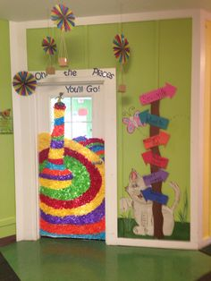 Oh the places you'll go door decorations!