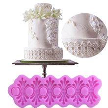 Europeia-estilo Faixa Decorativa 3D Fondant Moldes de Chocolate Moldes de Silicone de Decoração Do Bolo para Bolos Cozimento Ferramentas Acessórios(China (Mainland))