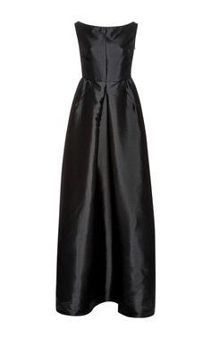 Off-The-Shoulder Pleat-Front Tafeta Gown by Rochas - Moda Operandi