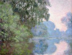 Morning on the Seine near Giverny - Claude Monet