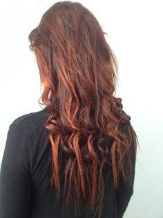 Hair red