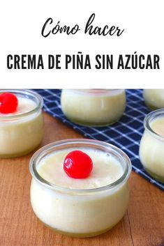 Easy Desserts, Delicious Desserts, Dessert Recipes, Canapes, Flan, 3 Ingredients, Sugar Free, Panna Cotta, Sweets