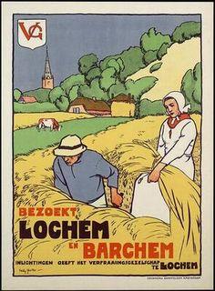 Vintage Travel Poster - Visit Lochem and Barchem #Gelderland #Achterhoek #Holland.