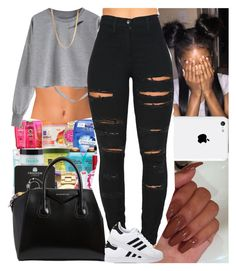 """""""Untitled #713"""" by msixo ❤ liked on Polyvore featuring NLY Accessories, Givenchy, ASOS, Vibrant and adidas Originals"""