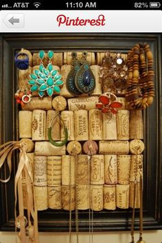 can even make one out of wine corks! eeeee, why didnt i think of that! <3 so great