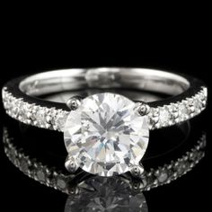 Brilliant diamond engagement ring.