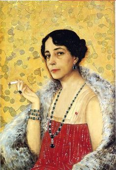 Jean Dunand: Philanthropist and art enthusiast Florence Meyer Blumenthal (1875 - 1930). Eugene Meyer was a younger brother of hers; one of his daughters was Katharine Graham.