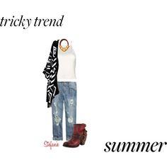 """Sunday Funday"" by destitutediva on Polyvore #trickytrend #ankleboots #summertofall #fashion #summerfashion #fallfashion #boyfriendjeans #JCrew #Anthropologie #Polyvore #outfit #womensfashion #womenswear #casual"