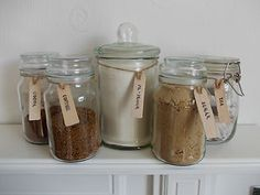 Abywillow   Wooden Jar Labels tags, Tea Coffee Sugar Biscuits, Kilner, Storage, Blackboard
