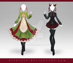 (OPEN) Adoptable Outfit Auction 220 - 221 by Risoluce.deviantart.com on @DeviantArt