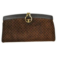 bd9b6bf4e6a0 Details about Auth GUCCI GG Logos Clutch Hand Bag Brown Suede Leather Italy  Vintage J03221