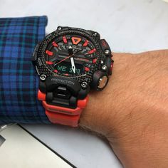 Bluetooth, Car Led Lights, Temperature Measurement, Elapsed Time, Countdown Timer, Time Zones, Am Pm, Casio G Shock, Orange Red