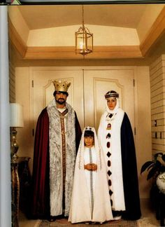 The Royal costumes of the Armenian King, Queen and Princess of the Armenian Kingdom of Cilicia.