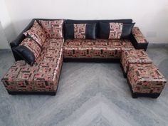 For Sale L Shape Sofa with Puffy For More Information Please Visit http://usedfurnitures.in/product/l-shape-sofa-with-settee-puffy-1697 or www.usedfurnitures.in or Call: 8826755599