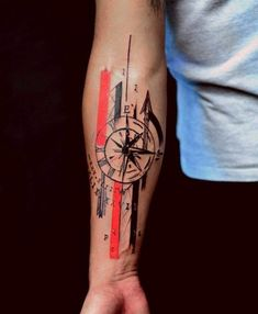 20 Compass Tattoo Ideas For Men And Women Wolf Tattoo Sleeve, Tattoo Sleeve Designs, Arm Band Tattoo, Sleeve Tattoos, Tattoo Wolf, Forarm Tattoos, Leg Tattoos, Body Art Tattoos, Forearm Tattoos For Guys