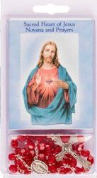 Novena Book & Sacred Heart of Jesus Rosary Beads. Rosary Novena, Water Drawing, Our Lady Of Lourdes, Heart Of Jesus, Rosary Beads, Rosaries, Sacred Heart, Catholic, Book