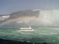 Niagra Falls Canada.  Check out that rainbow!  The rainbow is God's sign of His promise never to flood the earth again.